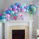 finished balloon garland