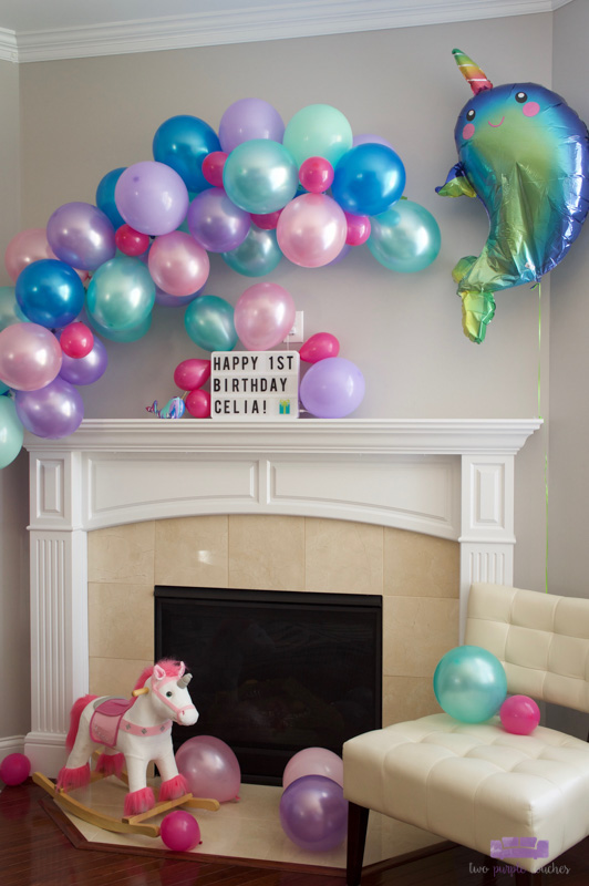 finished balloon garland arch