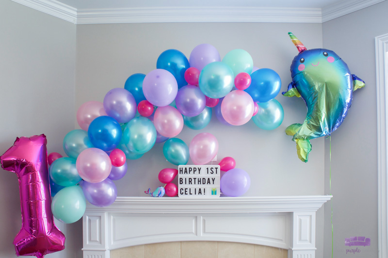 balloon garland backdrop