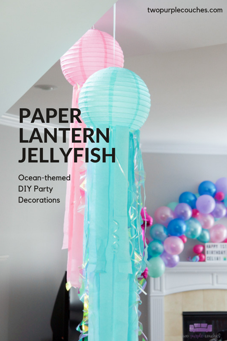 Paper Lantern Jellyfish image for Pinterest