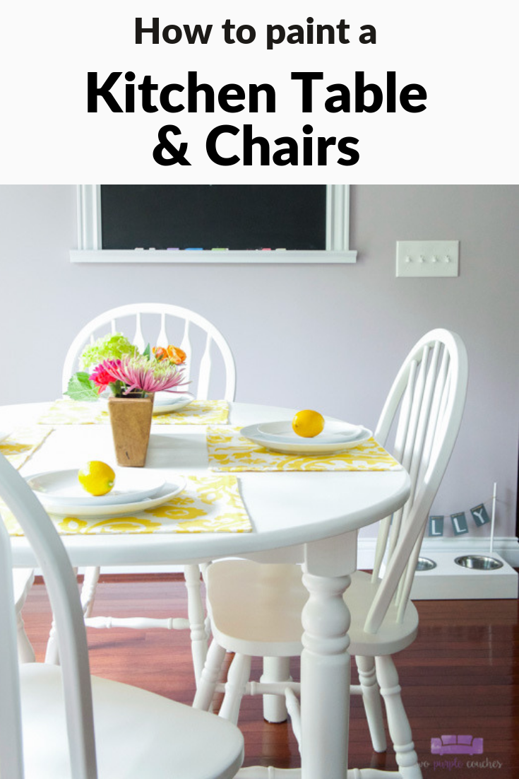kitchen table makeover pin image