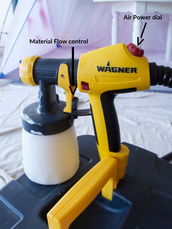 Wagner FLEXiO 5000 sprayer controls