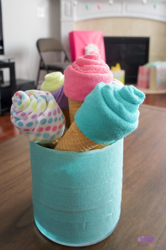 ice cream baby shower cone decorations