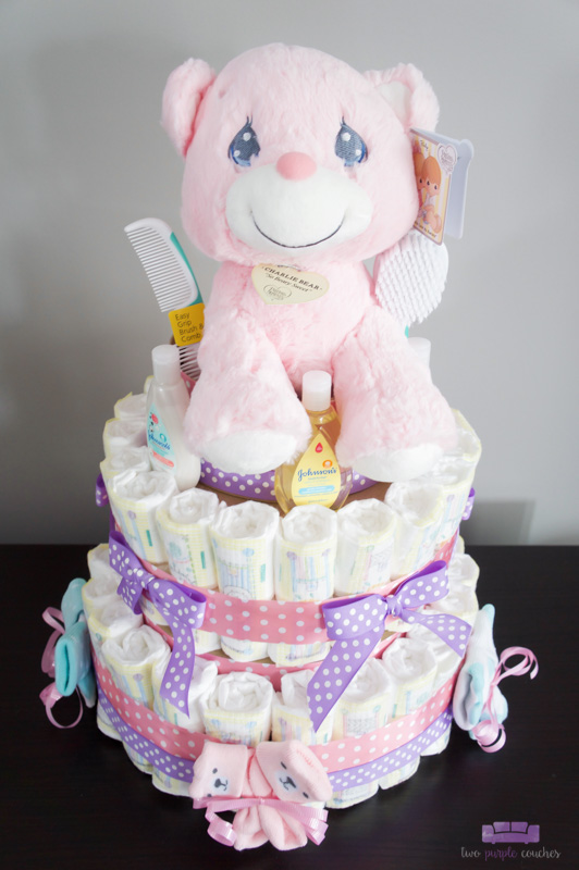 ice cream baby shower diaper cake