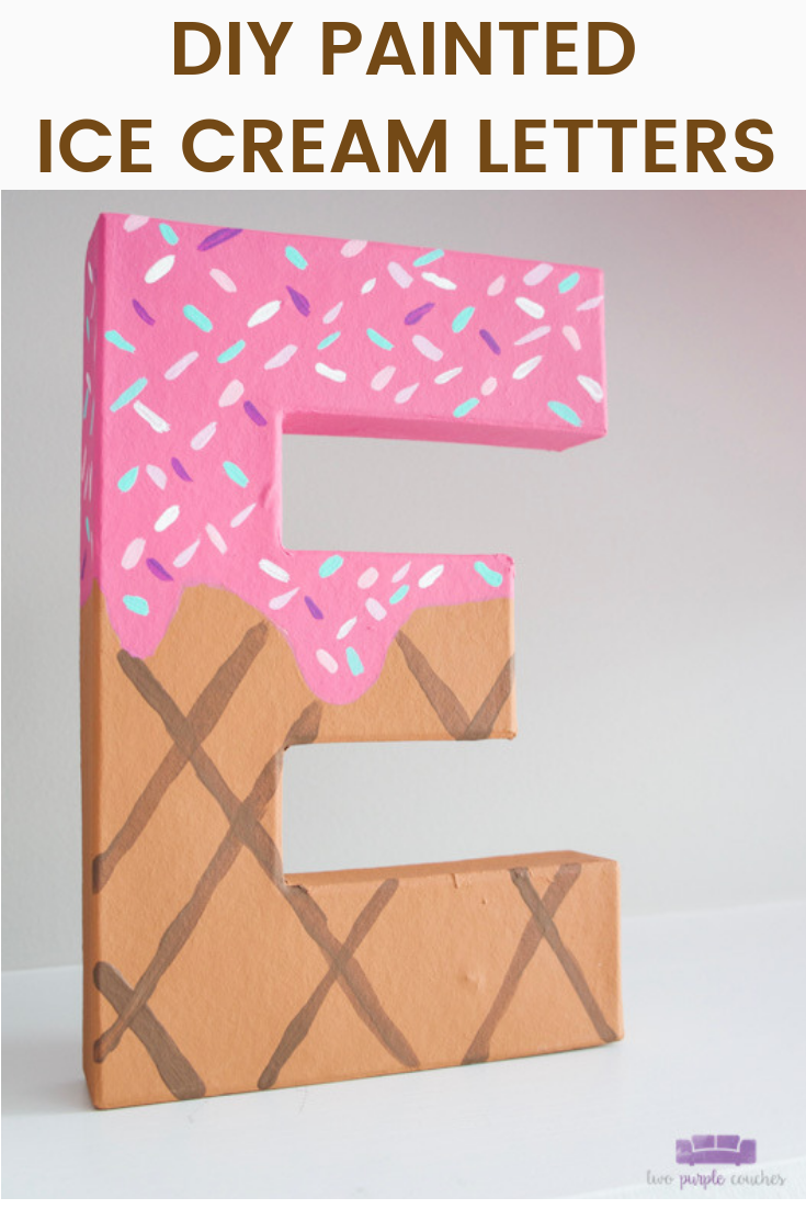 Painted ice cream letters PIN