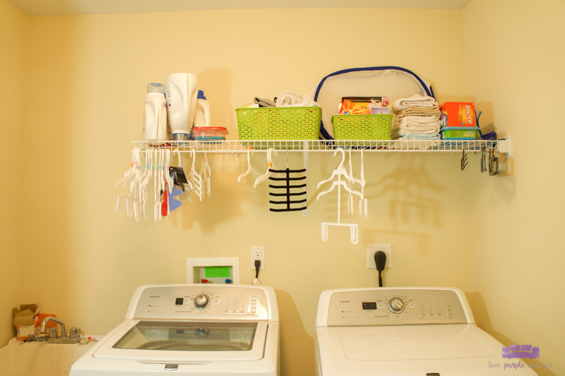 laundry room shelf before