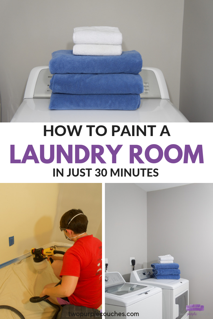 painted laundry room collage