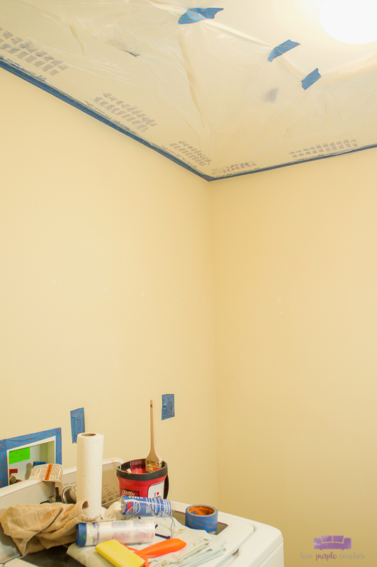 masking film on ceiling