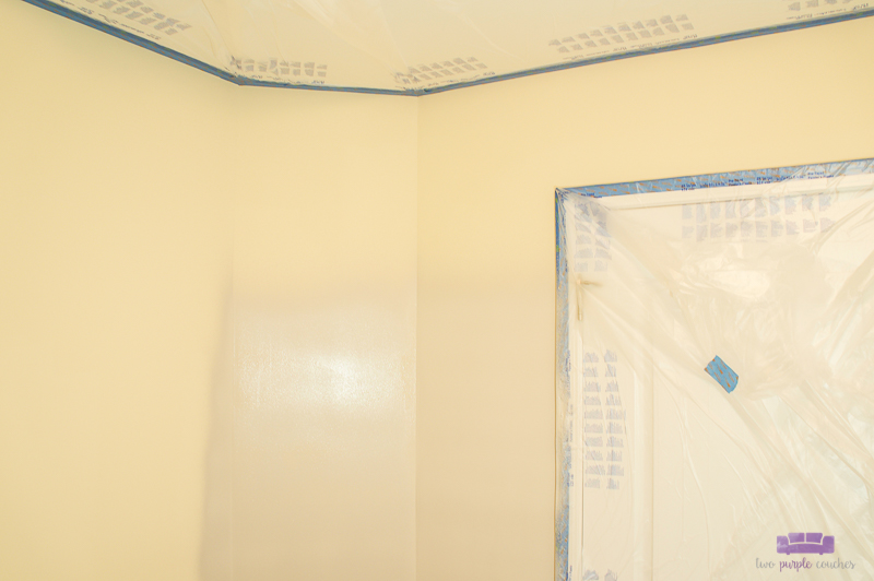 masking a ceiling before paint