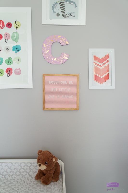 painted nursery letter wall decor