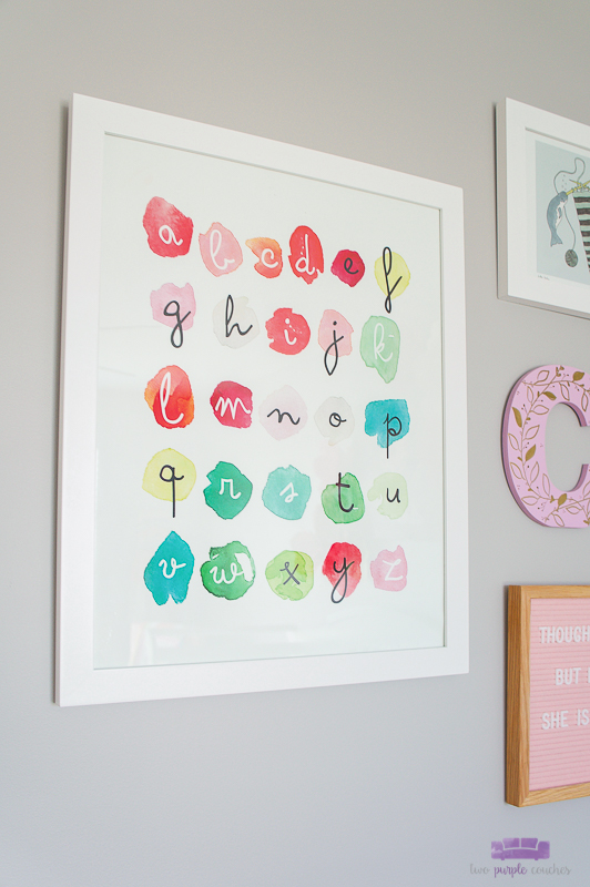 abc print for nursery gallery wall