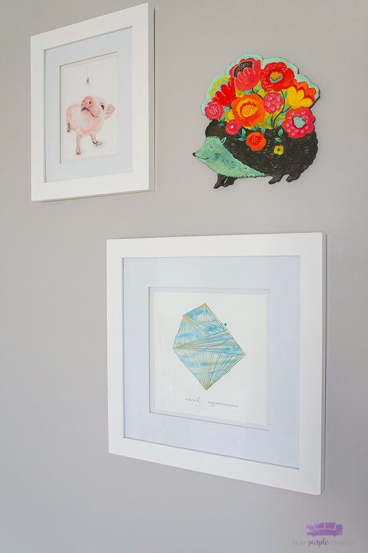 personalized art for nursery gallery wall
