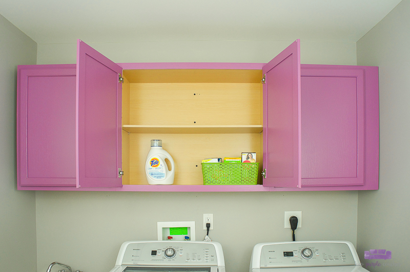 laundry room cabinets painted