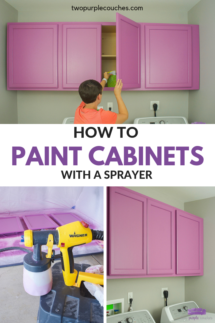 painting cabinets PIN collage