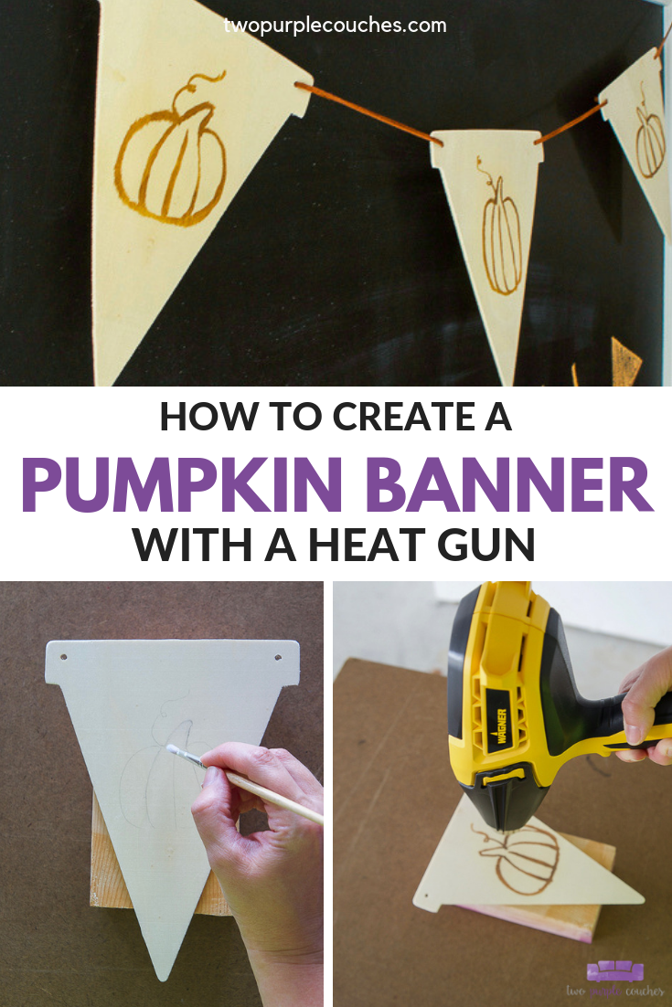 how to create a diy pumpkin banner
