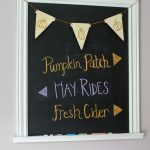 wood burned diy pumpkin banner