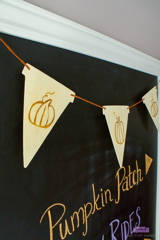 diy pumpkin banner detail