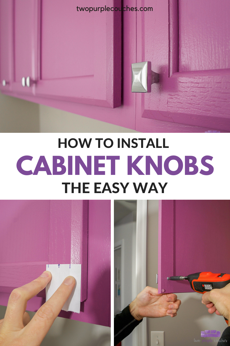 how to install cabinet knobs the easy way pin collage