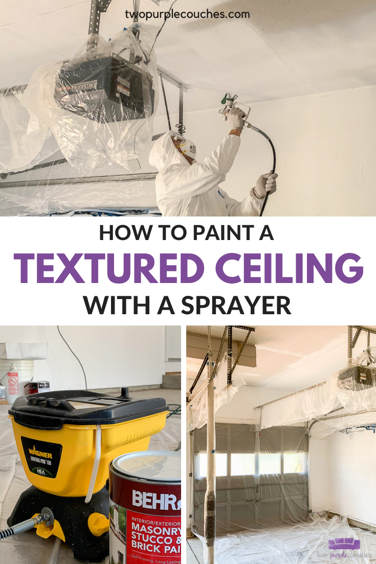 Paint a textured ceiling pin collage