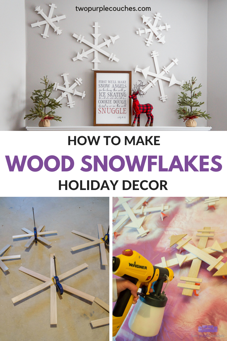 DIY Wood Snowflakes Decor Pin Collage