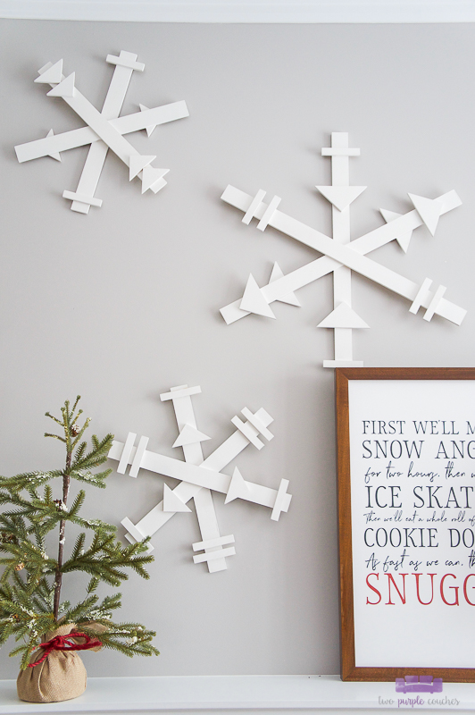 diy wood snowflakes decorations