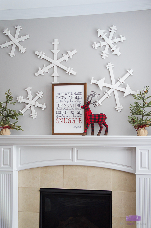 giant diy wood snowflakes
