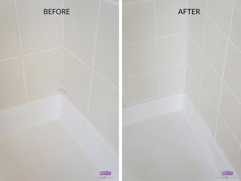 steam clean tile shower before and after 1