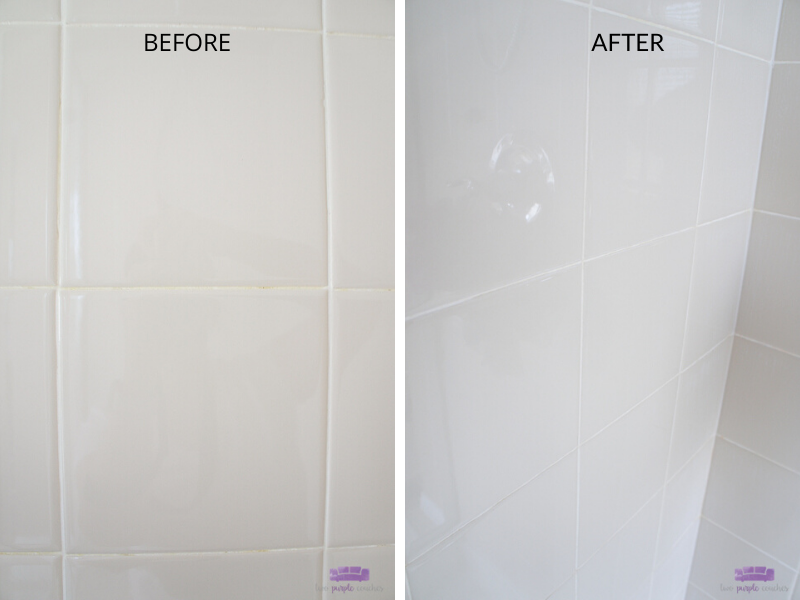 steam clean tile shower before and after 2